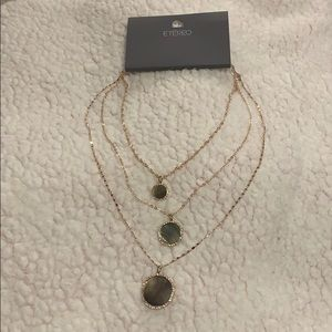 Etereo necklace rose gold